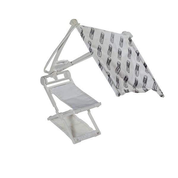 White headrest and headshade combo